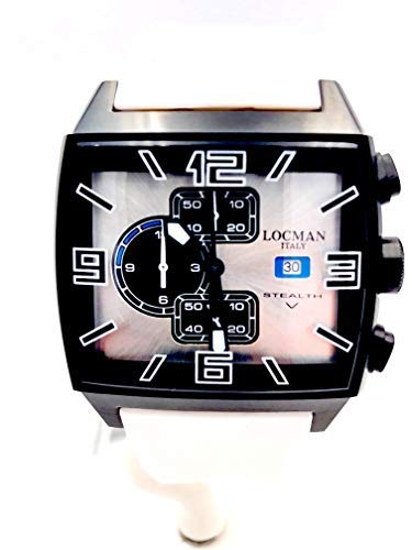 Watch locman Stealth Video 301 Steel pvd Black Rubber White crono