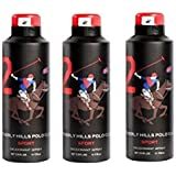 Beverly Hills Polo Club No.2 Deodorant Combo Pack For Men(Pack Of 3)