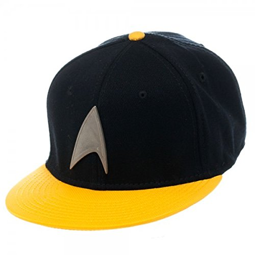 Star Trek Metal Badge Yellow Snapback Casquette de Baseball