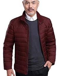 GKKXUE Piumino Leggero Invernale Pelo Pesante Corto di Mezza età  Abbigliamento Invernale Caldo papà (Colore 74208cf8c71