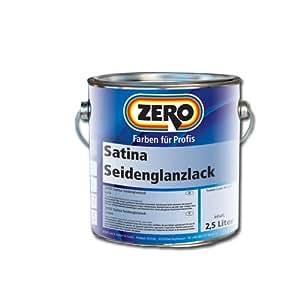 Zero Satina Seidenglanzlack 750ml Verkehrsweiß 9016