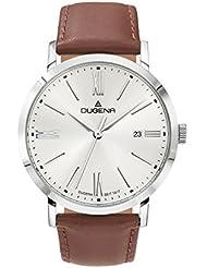 Dugena Herren-Armbanduhr Elegant Analog Quarz Leder 4460644