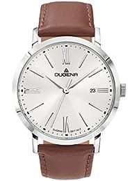 Dugena Herren-Armbanduhr Sirius - Trend Line Analog Quarz Leder 4460644