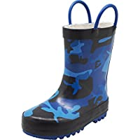 NORTY Toddler Boys Camouflage Waterproof Rainboot, Blue, Black 40133-6MUSToddler