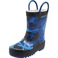 NORTY Toddler Boys Camouflage Waterproof Rainboot, Blue, Black 40133-6MUSToddler