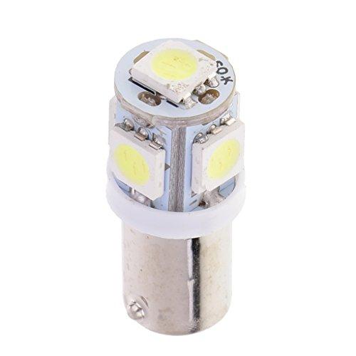 12V BA9S 5050 Ampoule LED 5 SMD Intérieur Lampe Phare Feux Auto Baïonnette Voiture Lumière - Blanc