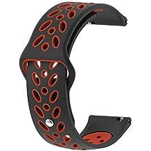 Strap Reloj para Unisex Versión Juvenil Brazalete de Forma Hoja Pulsera Silicona Wristbands de Suave Bandas