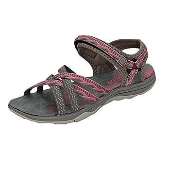 GRITION Sandales Sport Femme, Sandales Bout Ouvert Dames Réglables Chaussures de Randonnée en Plein Air de l'eau Sandales Cross-Tied D'été