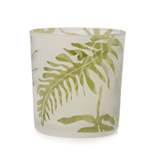 Teelichthalter Glas FARN weiß grün Cor Mulder modern extravagant (Milchglas-zylinder)