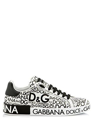 Dolce & Gabbana Schuhe (M-01-Sc-52398) - 42(DE)/42(IT)/42(EU) - Weiss (Dolce & Leder Sneakers Gabbana)