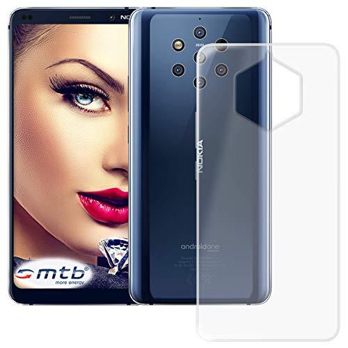 mtb more energy® Custodia Clear & Slim per Nokia 9 PureView (5.99'') | Trasparente | Flessibile | Sottile | TPU Silicone Case Cover