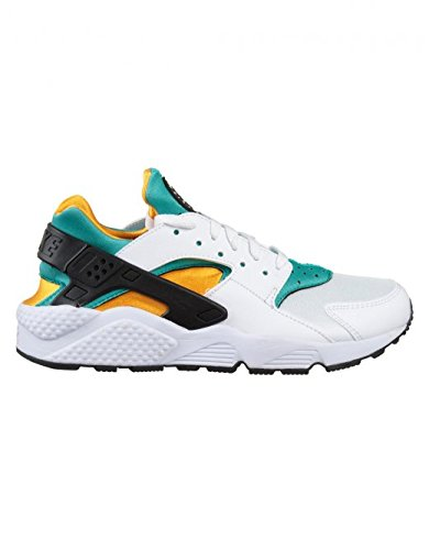 Nike Air Huarache, Herren Kurzschaft Stiefel, White (Black/Orange/Green), 45 EU (Winter Stiefel Nike)