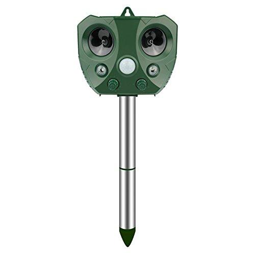 Yasolote Repeller Ultrasonico di Animali Repellitore Solare e Cavo USB per Animali, Ratti, Cani, Gatti, Uccelli, Volpi ECC. in Giardino, Patio, Orto, Campo