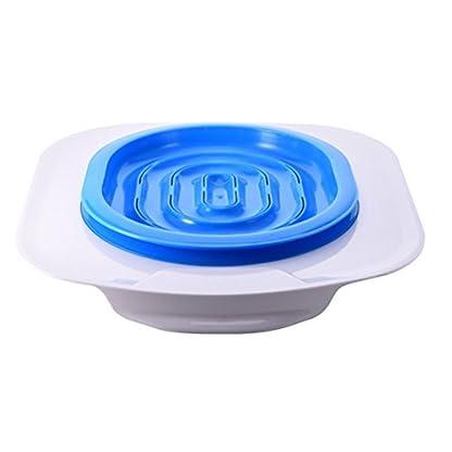 UEETEK Pet Toilet Training Seat for Cats Potty Training Tray Cats Kit (Blue) 1