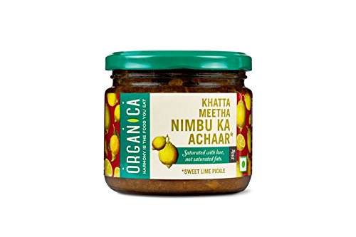 Organica Organic Sweet Lime Pickle, 350g