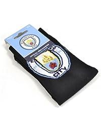 Calcetines oficiales de Manchester City, unisex, multicolor, tamaño 39–45.