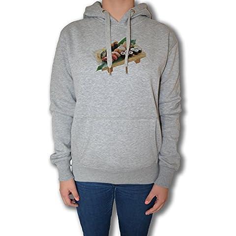 Sushi Mujer Sudadera Sudadera Con Capucha Pullover Gris Todos Los Tamaños | Women's Sweatshirt Hoodie Pullover