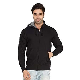 Softwear Mens Black Plain hoodies -XX-Large