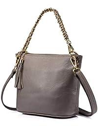 1852df046 Djkaa Moda femenina Bolsos de hombro de cuero bolsos mujeres marcas famosas  bolsas de mensajero 2019
