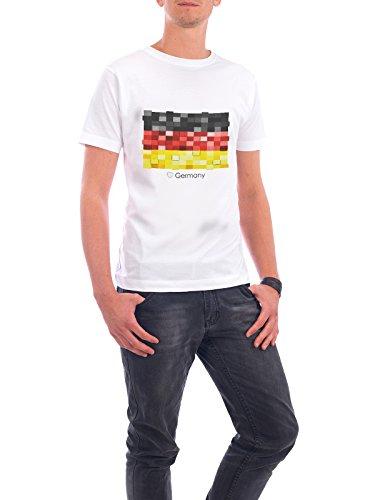 """Design T-Shirt Männer Continental Cotton """"Germany Flag"""" - stylisches Shirt Reise Reise / Länder von GREENGREENDREAMS Weiß"""