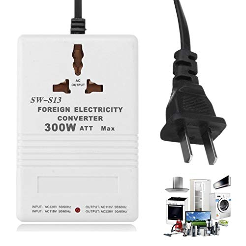 Yongse S13 110V to 220V Step Up/Down Voltage Converter Adapter 300W Watt Transformator Travel