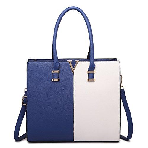 Miss Lulu ,  Damen Tasche 1666 Navy&White