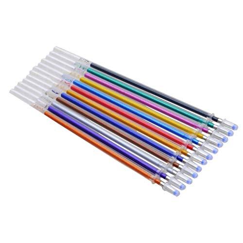 Yue668 Bunte Gelstift fluoreszierende Minen Farbpatrone Flash Pen glatte Tinte Malerei Graffiti Pens Student Schreibwaren Büro Schule 12 Farben Minen Marker Aquarell Gelstift ersetzen Lieferungen (A) -