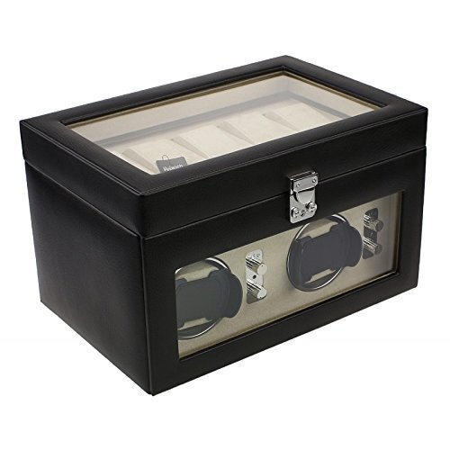 brand-new-model-dulwich-genuine-leather-dual-watch-winder-and-5-watch-storage-cushions-perfect-for-b
