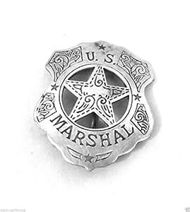 Insigne Badge Etoile U.S Marshal Americain Vintage antique style patine