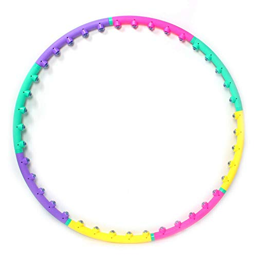 Weight Loss Sports Circle Serie: ® (2 Pfund, 3 Pfund, 4 Pfund) Hula Hoop + DVD (Size : 7 Knots 74cm) (Garage Veranstalter Sport)