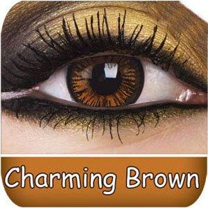 Braune Kontaktlinsen + GRATIS Behälter original Eye Effect braune Kontaktlinsen als Jahreslinsen für Männer und Frauen