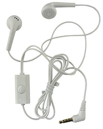 Genuine LG Weiß Stereo Kopfhörer mit Mikrofon für geeignet LG L90 / L90 Dual in Bulk Packaging