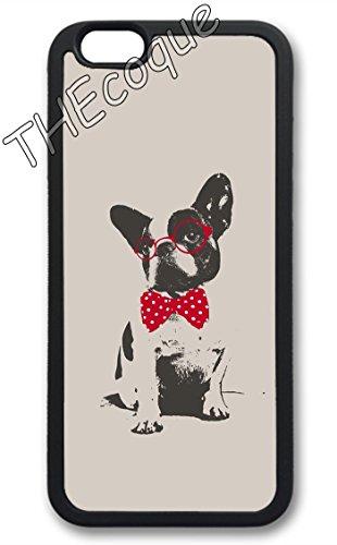 Coque silicone BUMPER souple IPHONE 6/6s - bulldog chien dog CASE tpu DESIGN + Film de protection INCLUS 4