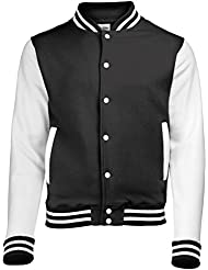 Varsity jacket Jet Black-White M