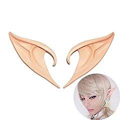 Idea Regalo - YOUOR Elf Ears Cosplay Orecchie da Elfo Fata Anime Puntelli Costume Accessori del Partito (6 cm)