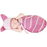 Aivtalk - Disfraces Trajes Apoyo Hamaca de Fotografía Fotos de Punto de Ganchilo para Bebés Recién Nacidos Niños Niñas - Hamaca Saco de Dormir Guisante Conejo Mono Ciervo Dinasaurio Gato