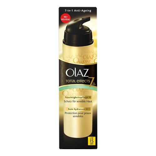 Olaz Total Effects Feuchtigkeitspflege & Schutz für sensible Haut mit LSF 15, 50ml
