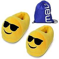 BP@ Pantofole peluche coperta pantofole a casa d'inverno per gli uomini e le donne pantofola smiley peluche Emoji Slipper Natale. (Cool, 35-41CN)