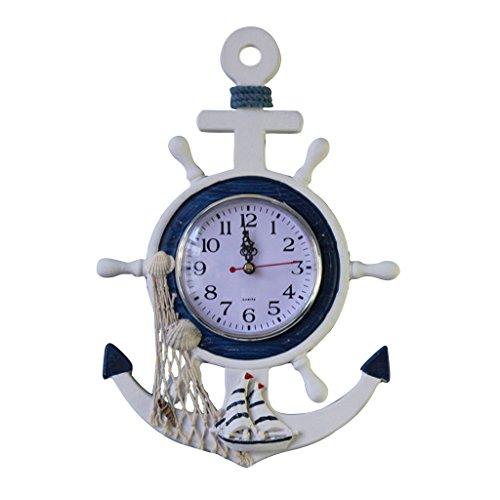 orologio-volante-appeso-bianco-della-nave-di-ancoraggio-nautica-da-pesca-arredamento-net