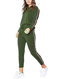 ShallGood Femme Casual Mode Sweat Shirt + Pantalon Col Rond Tops Leggings Yoga Jogging Survêtement Ensemble De Sportwear