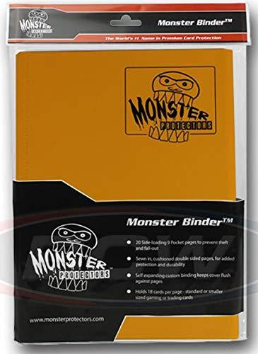 Monster Binder Fotoalbum, 9 Taschen, matt, Sonnenblumen-Orange, für 360 Yugioh-, Magic- und Pokemon-Karten (Kleine Pokemon Binder)