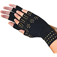 Medipaq® Magnetic Anti-Arthritis Health THERAPY Gloves (1x Pair (Medium) BLACK)