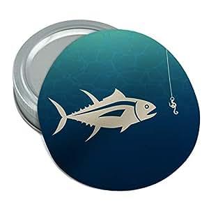 Tuna Fish Fishing Fisherman Round Rubber Non Slip Jar