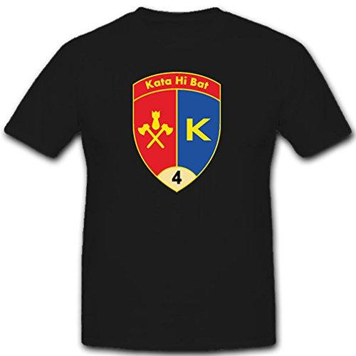 Kata Hi Bat 4 - Katastrophenhilfe Bataillon Schweizer Armee Militär Wappen Abzeichen Emblem - T Shirt Herren 5XL #9076