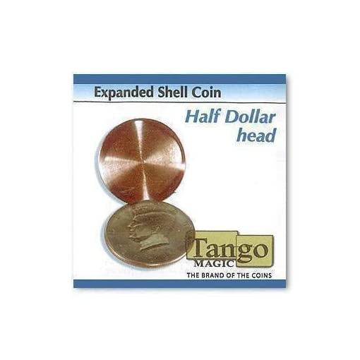 Expanded-Shell-Coin-Half-Dollar-head-by-Tango-Magic-Magie-mit-Tuch-Zaubertricks-und-Magie