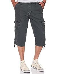 JET LAG Herren Cargo Shorts 3/4 Hose 17-181 in cement, schwarz und urban chic