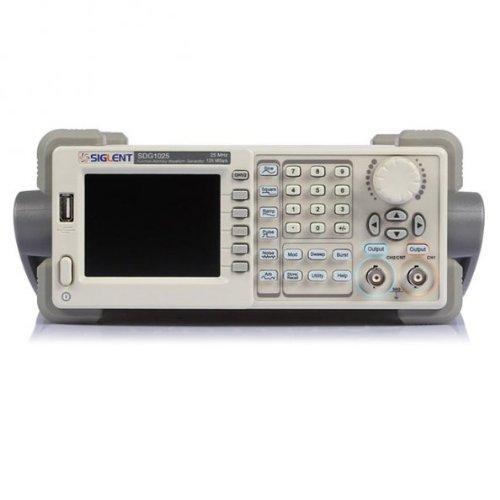 Siglent SDG1025 Digital-Signalgenerator, Funktions-/Arbitrary Waveformgenerator, 20MHz, 125MSa/s, 4,3Zoll, für Analogsensoren, Umweltsignale, Schaltungsfunktionstest, IC-Tests, Ausbildung
