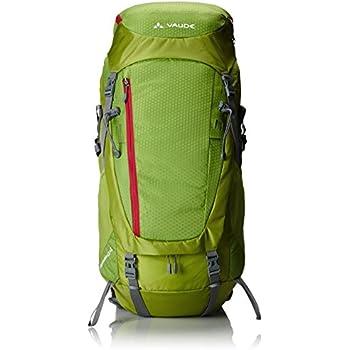 VAUDE Rucksack Asymmetric 52+8 - Mochila de senderismo, color verde, talla 76