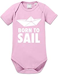 Born To Sail Paper Boat Baby Strampler by Shirtcity