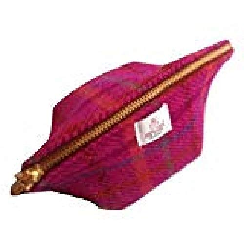 Harris Tweed pour femme Motif Big Mouth pochette Rose Heather Fabriqué à la main en Écosse